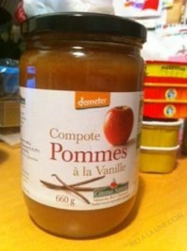 La compote de pommes vanille Bio et Demeter 660g