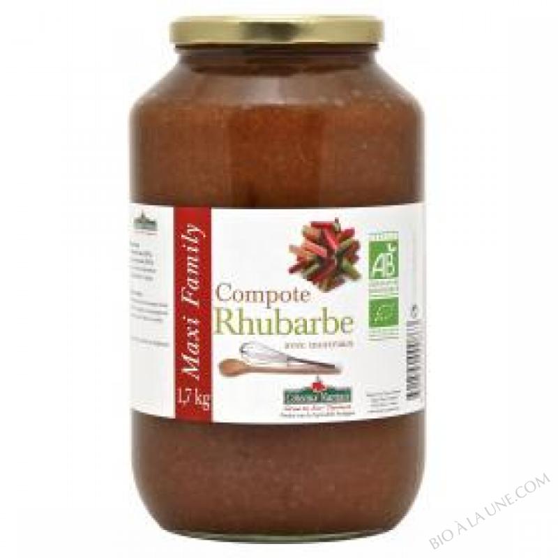 La compote de rhubarbe Bio 1,7kg