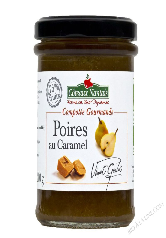 Compotee Gourmande Poires Caramel Bio 200g