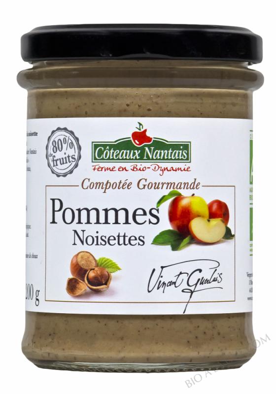 Compotee Gourmande Pommes Noisette Bio 200g