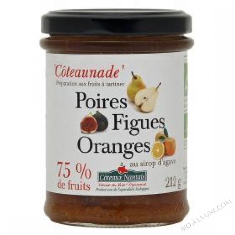 Coteaunade Poires figues oranges Bio 212g