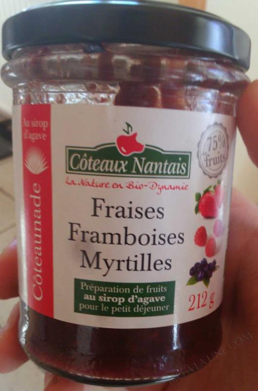 Coteaunade Fraises framboises myrtilles Bio 212g
