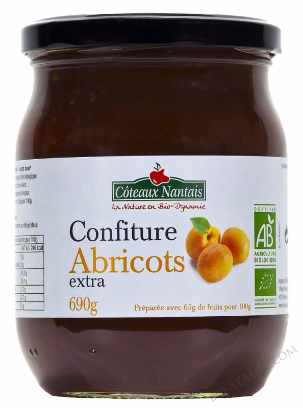 Confiture abricots extra Bio 690g