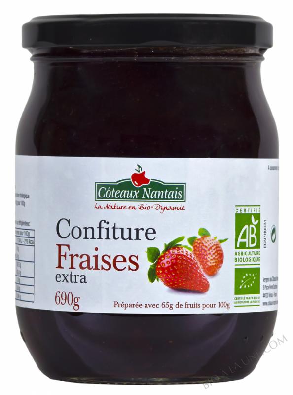 Confiture fraises extra Bio 690g