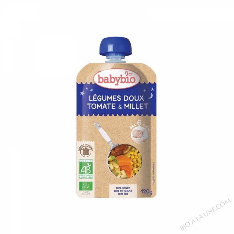 Gourde Bonne Nuit Tomate Millet dès 6 mois