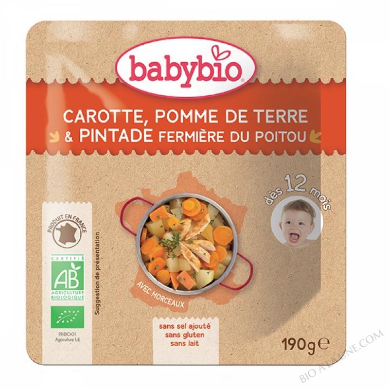 Doypack Carotte, pomme de terre et pintade fermière - 190g