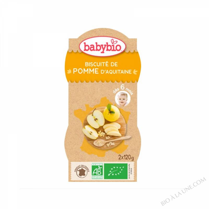 Bols Biscuites Pommes des 6 mois 2x120g