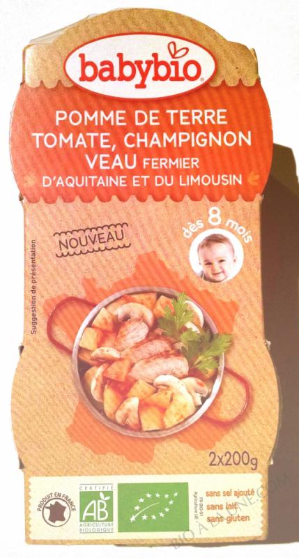 Pomme de terre Tomate Champignon Veau 2 x 200g