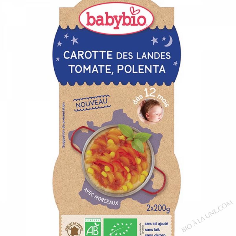 2 bolsBonne Nuit Carotte Tomate Polenta des 12m