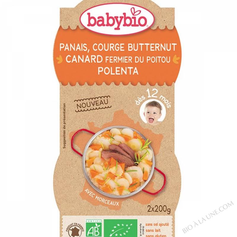 BABYBIO Bol Panais Courge Butternut Canard Polenta