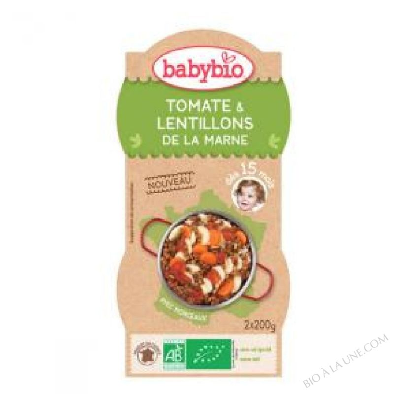 Bols Tomates Lentillons - 2 x 200g