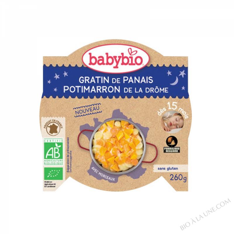 BABYBIO Assiette Bonne Nuit Gratin Panais Potimarron