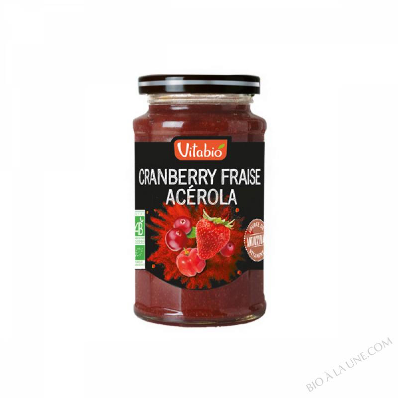 Tartinable Antioxydant Fraise Cranberry Acerola 290g