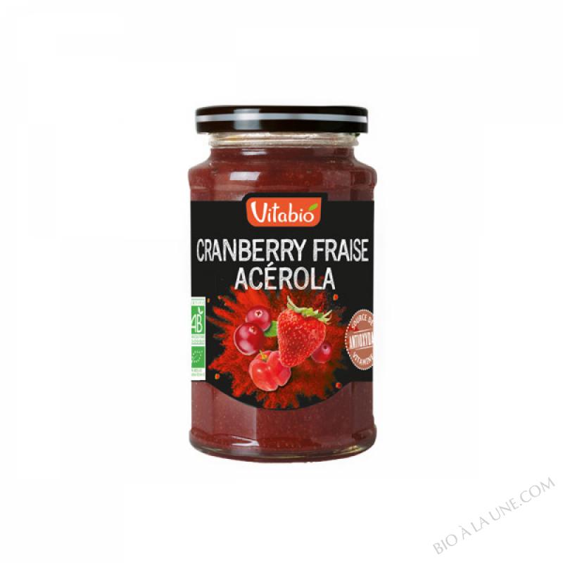 VITABIO Fruits à tartiner Cranberry Fraise Acérola