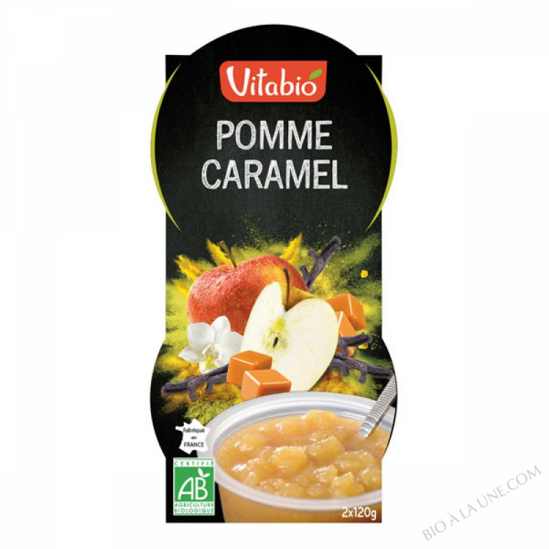 2 Desserts Pomme Caramel Vanille Bio
