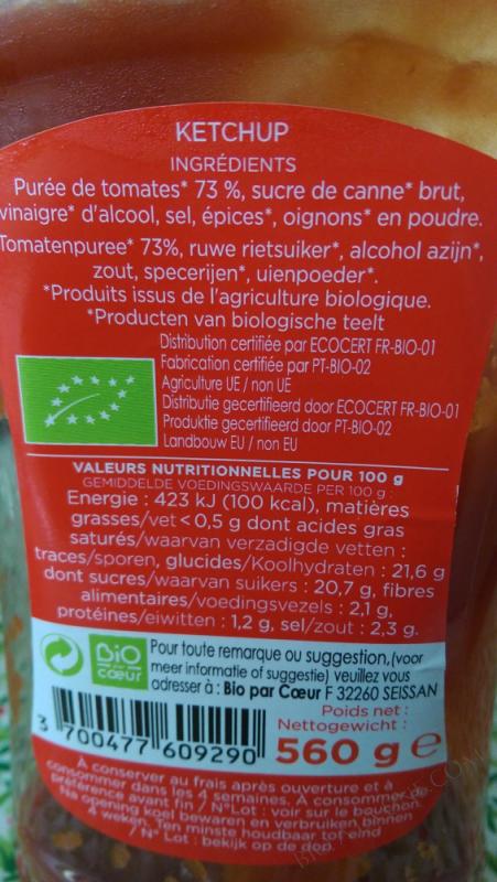Ketchup Bio flacon souple 560g