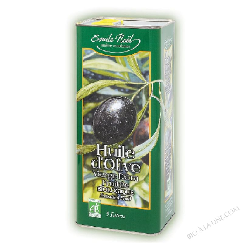 Huile d'Olive Vierge Extra Fruitée Bio - 5L