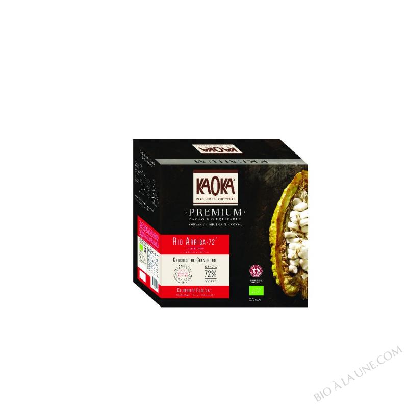 palets noir 70% Equateur - 5 kg