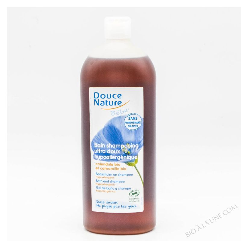 Bain Shampooing bebe hypoallergenique sans sulfate 1L