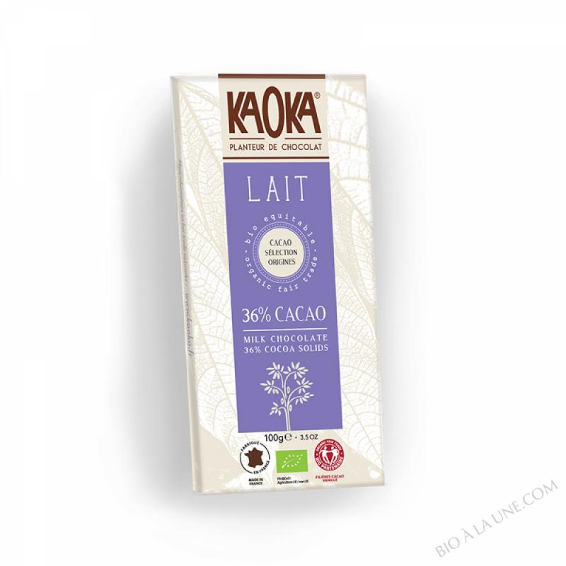 Chocolat au Lait 36% Cacao 100g