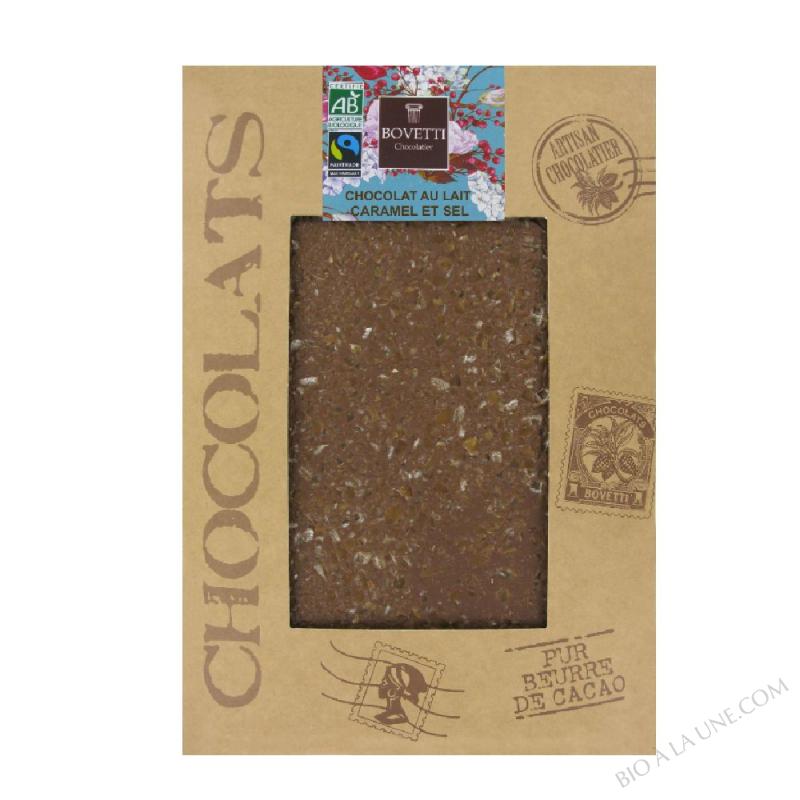 CHOCOLAT LAIT CARAMEL FLEUR DE SEL - 350G