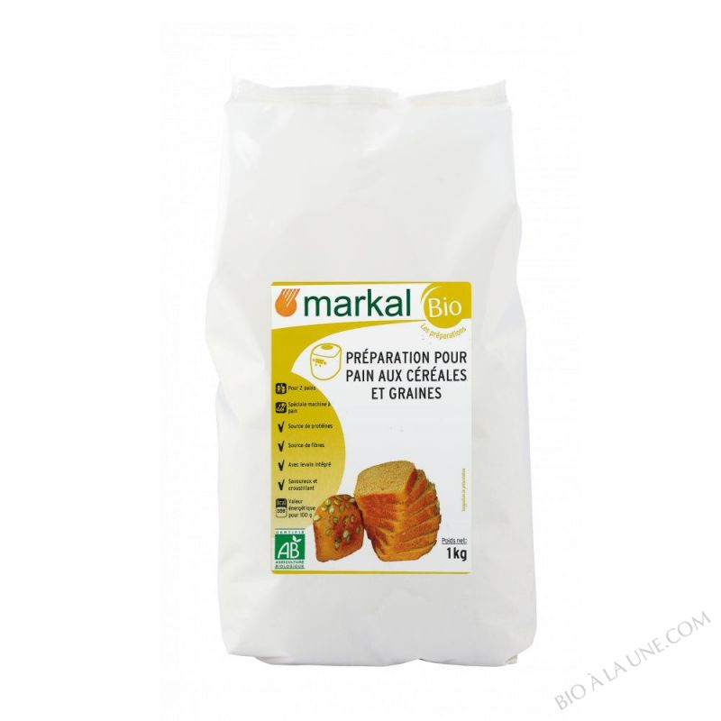 Preparation pour pain aux cereales et graines - 1kg