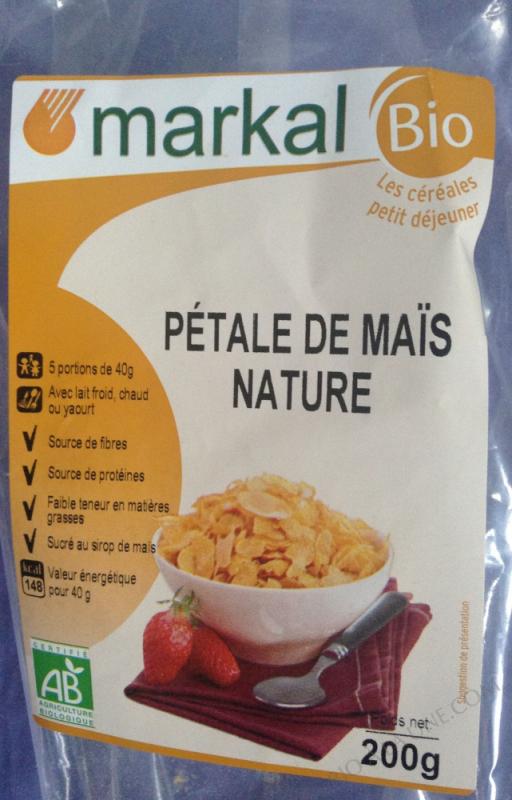 PETALES DE MAIS NATURE - sucrées au sirop de maïs - 200g