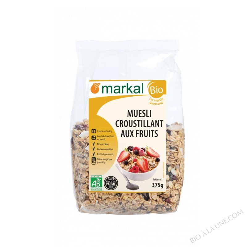 MUESLI  CROUSTILLANT AUX FRUITS - 375g