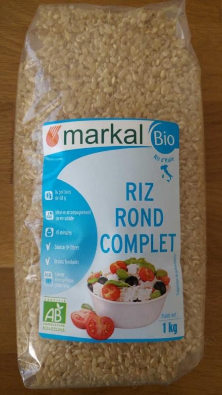 Riz rond complet - 1kg