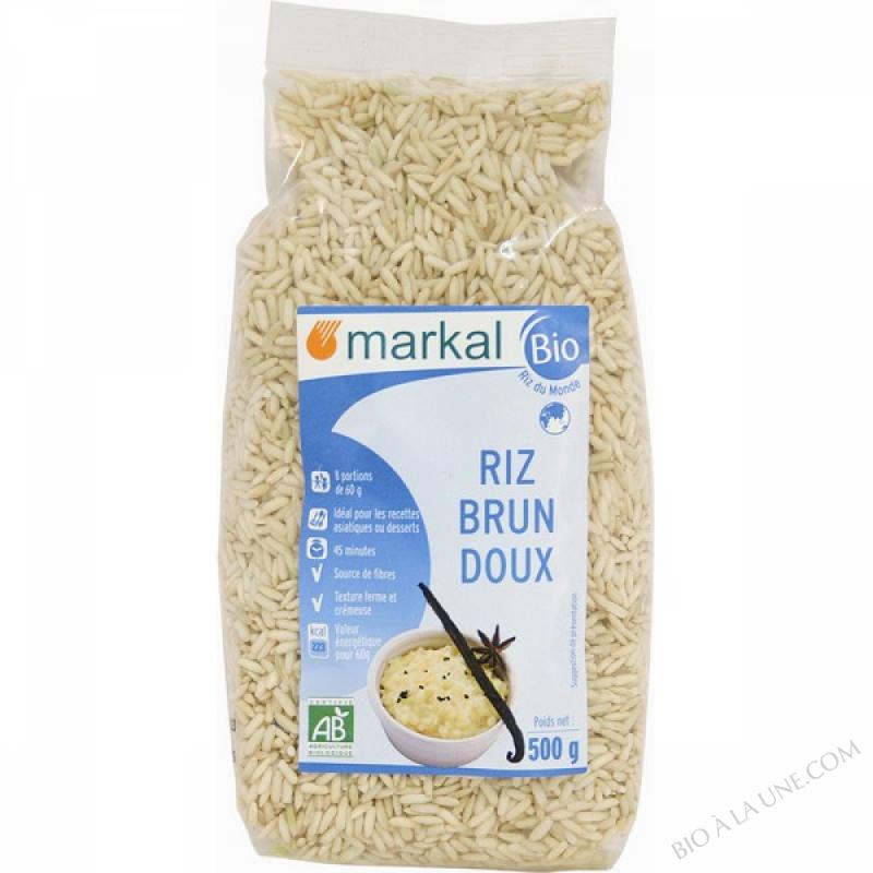 RIZ BRUN DOUX - GLUTINEUX - 500g