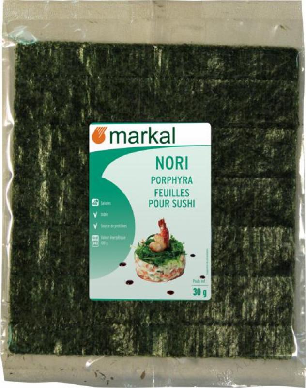 Feuilles pour Sushi Algues Nori 30g