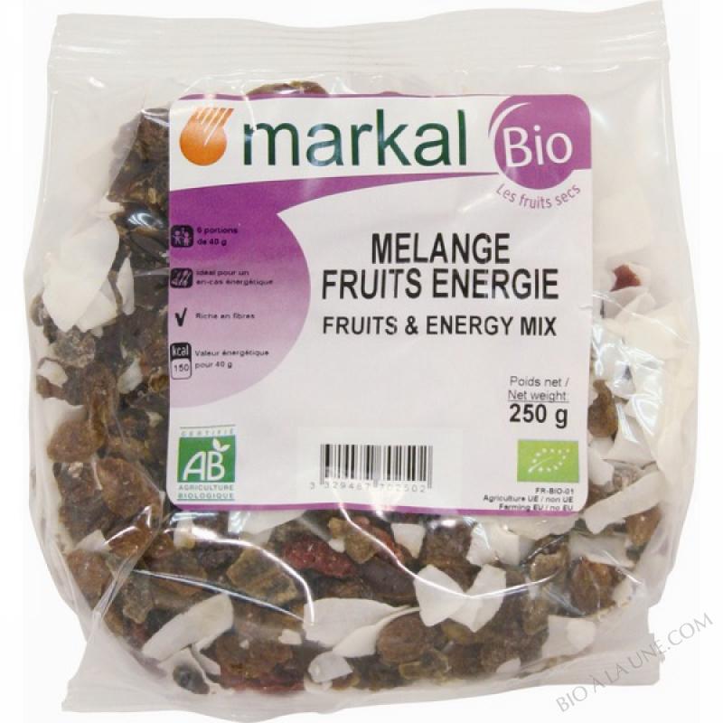 MELANGE FRUITS ENERGIE (Raisins, Bananes, noix de coco, cranberries, dattes) - 250g