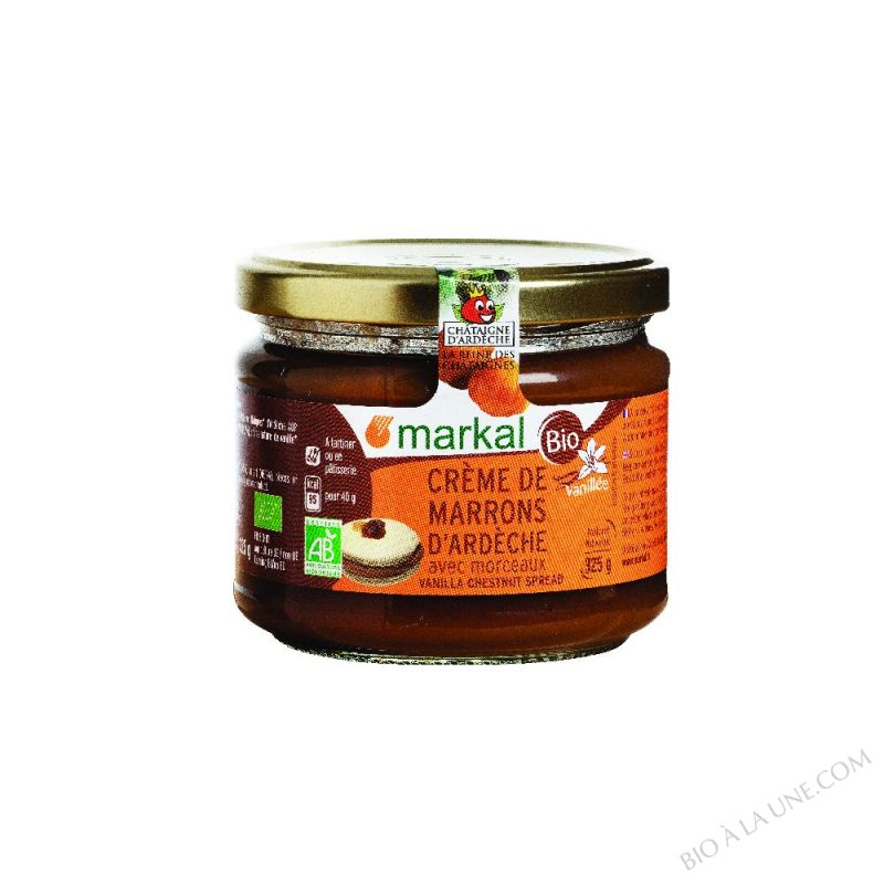 CREME DE MARRONS VANILLÉE AVEC MORCEAUX - 325G