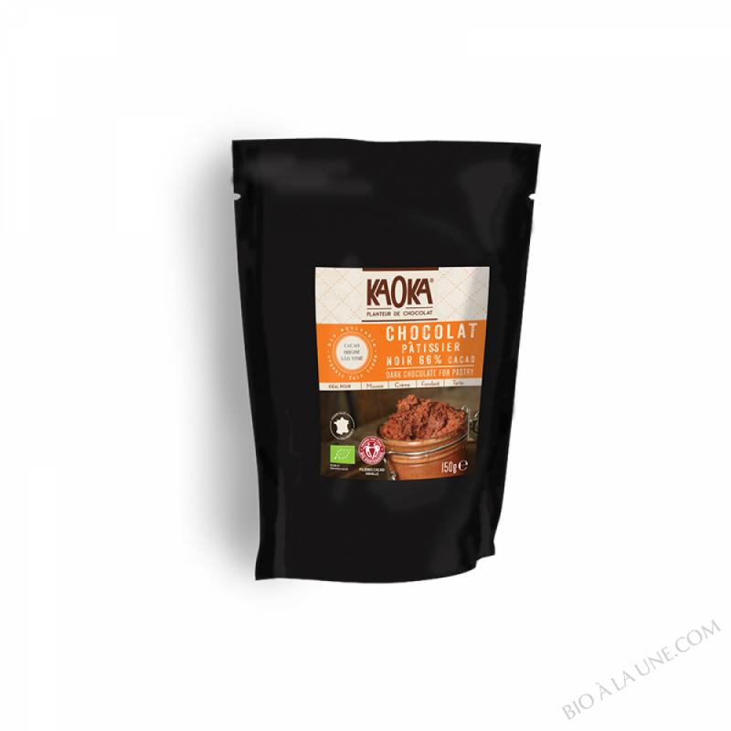 Palets chocolat noir 66% 150g