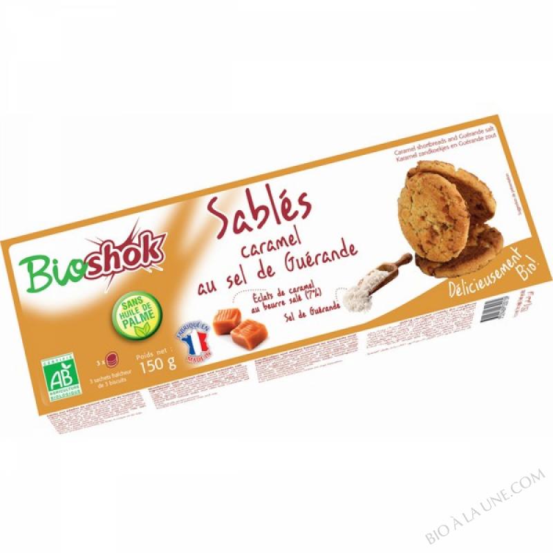 SABLÉS CARAMEL AU SEL DE GUERANDE - 150GG