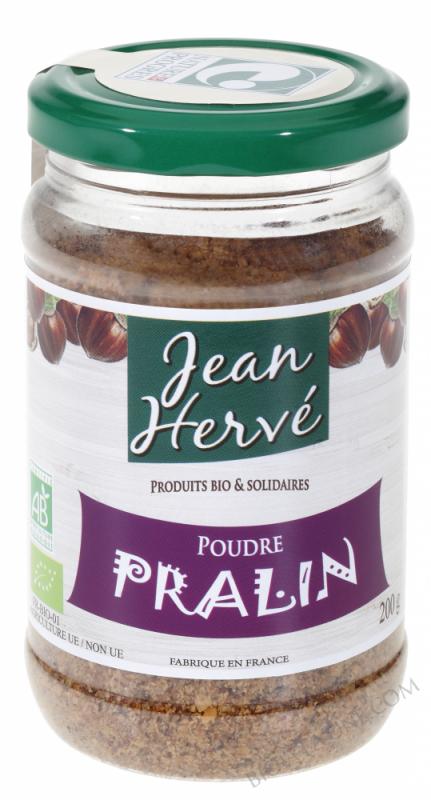 PRALIN  Noisettes 50 % / Sucre de canne roux 50 % - POT PET 200g x 6