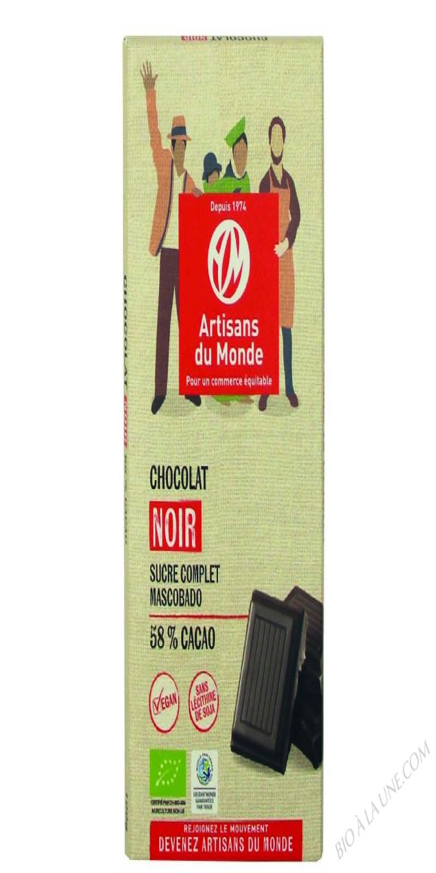 CHOCOLAT NOIR 58% - 100G