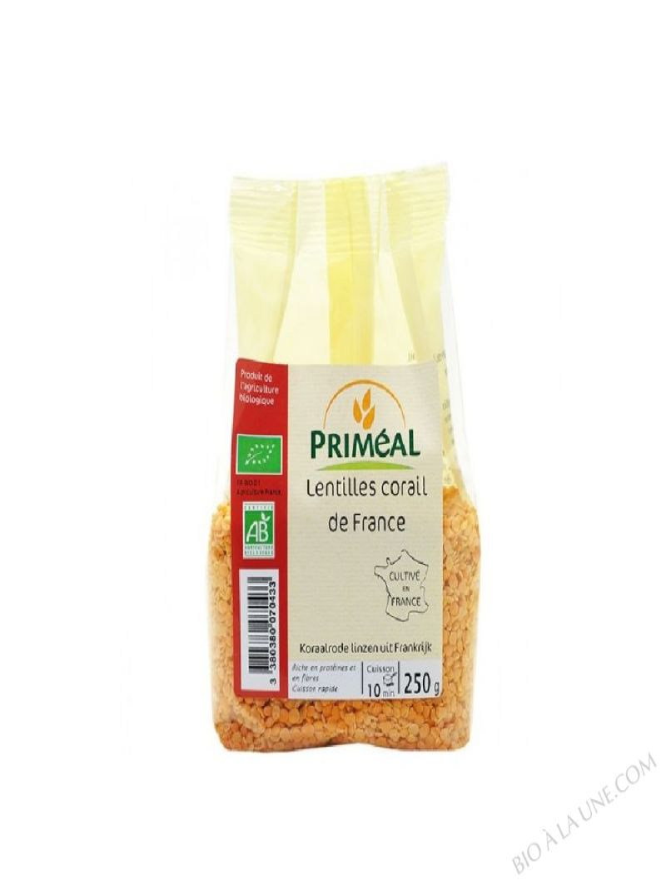 lentilles corail de France - 250 g