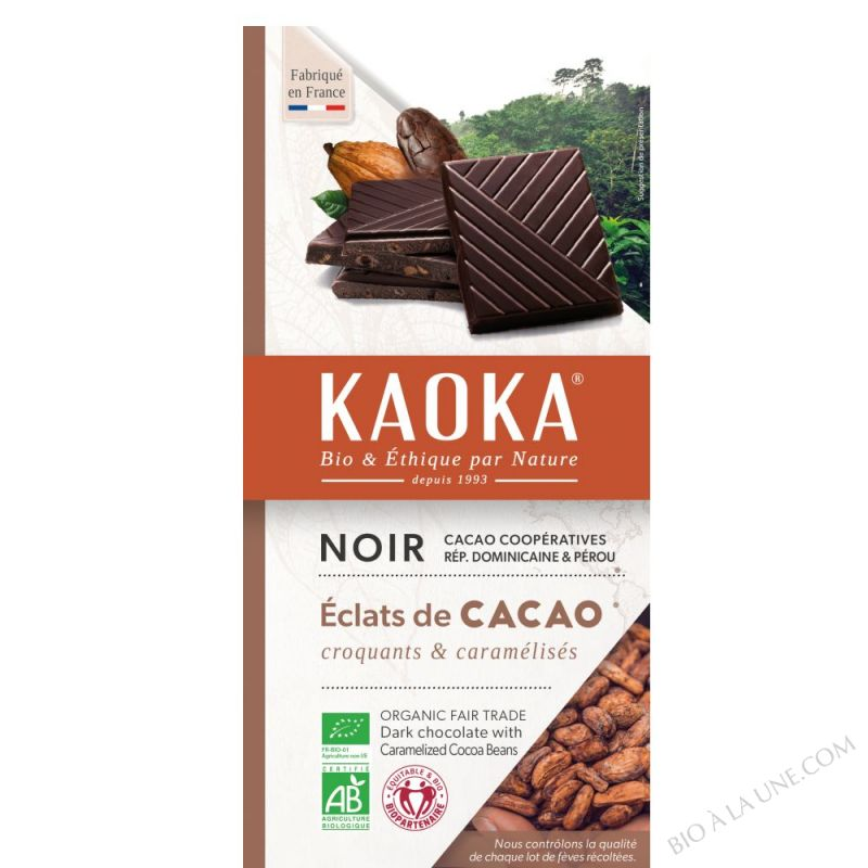 Chocolat Noir 61% Feves Cacao 100g