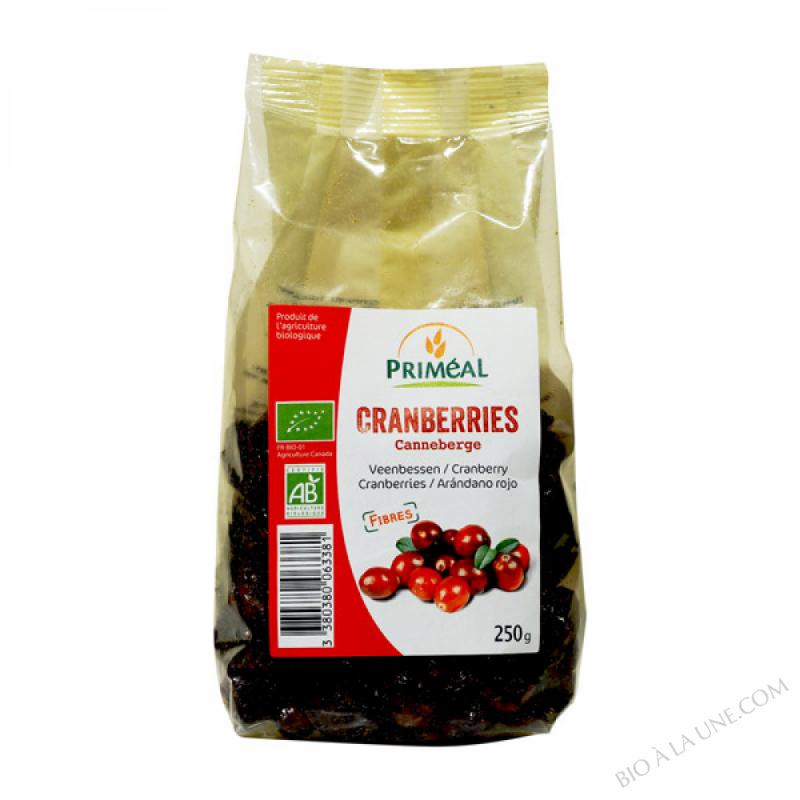 Cranberries sechees et jus de pomme 250g