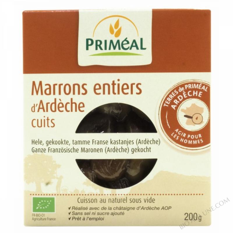 Marrons entiers cuits sous vide