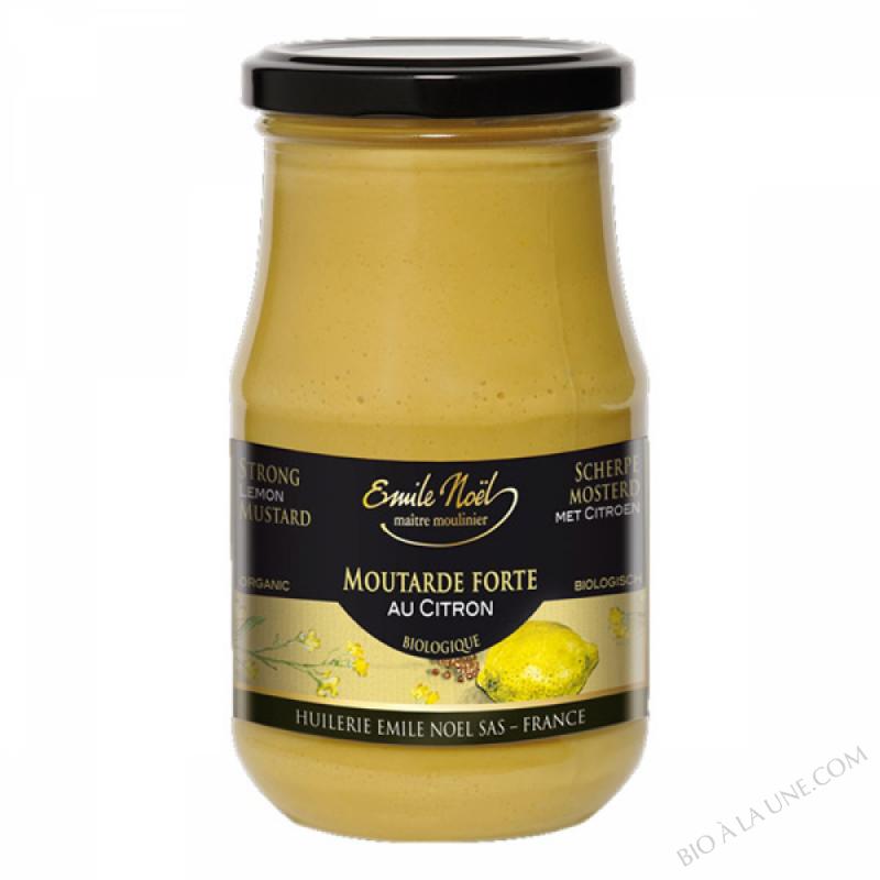 Moutarde forte au citron bio - 350g