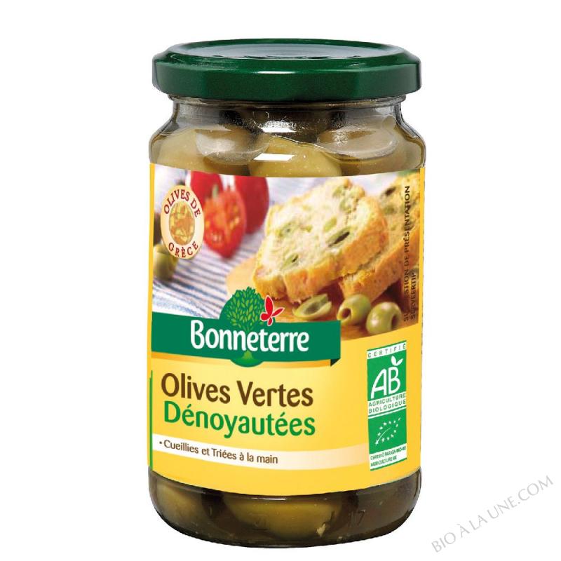 OLIVES VERTES DENOYAUTEES - 160 G