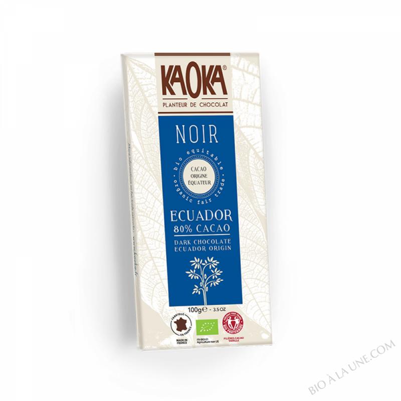 Chocolat Bio Noir 80% 100g