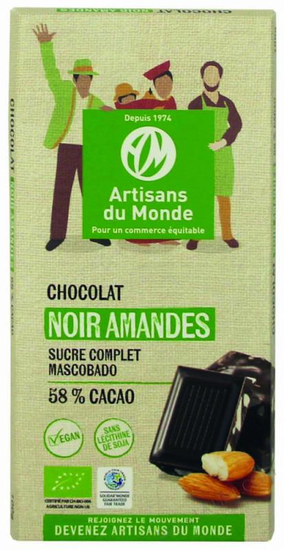 CHOCOLAT NOIR AMANDE - 100G