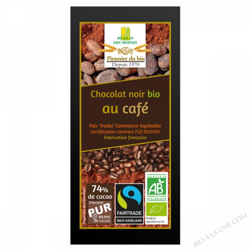 Chocolat noir bio au cafe - 100g