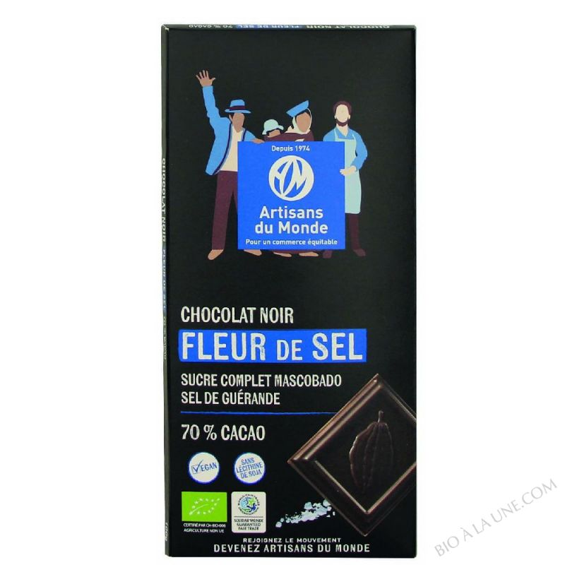 CHOCO. NOIR FLEUR DE SEL 100G ARTIS