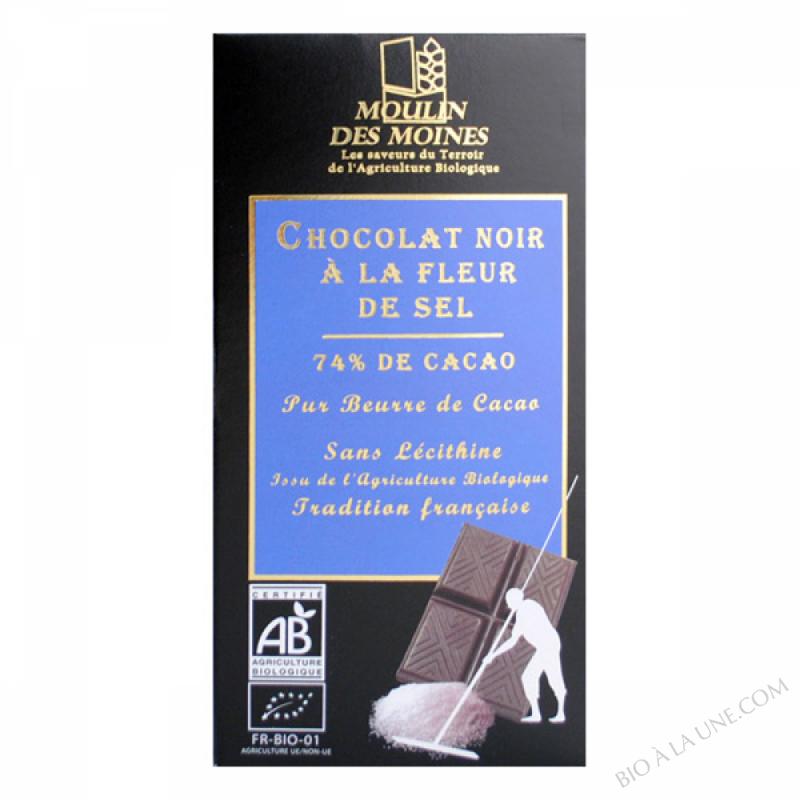 Chocolat Noir Fleur Sel BIO 100g