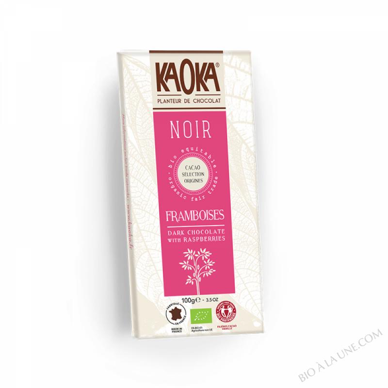 Chocolat Noir 55% Framboise 100g