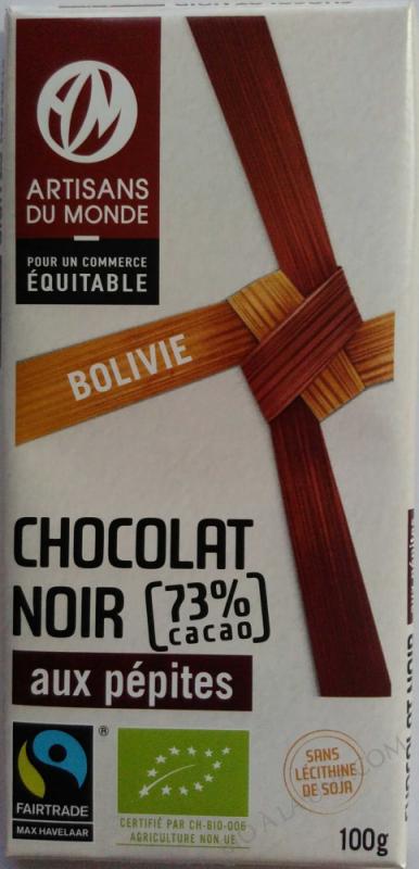 Chocolat noir aux pépites- 100 g